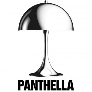 Panthella lamps designed by Verner Panton.